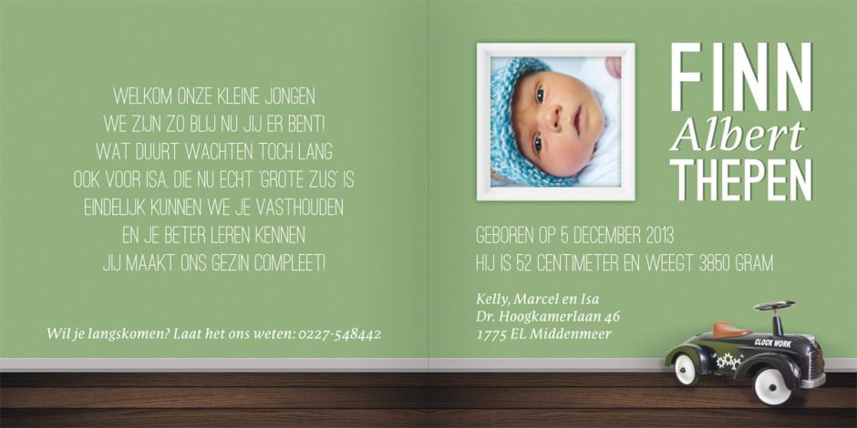 Geboortekaartje binnenkant