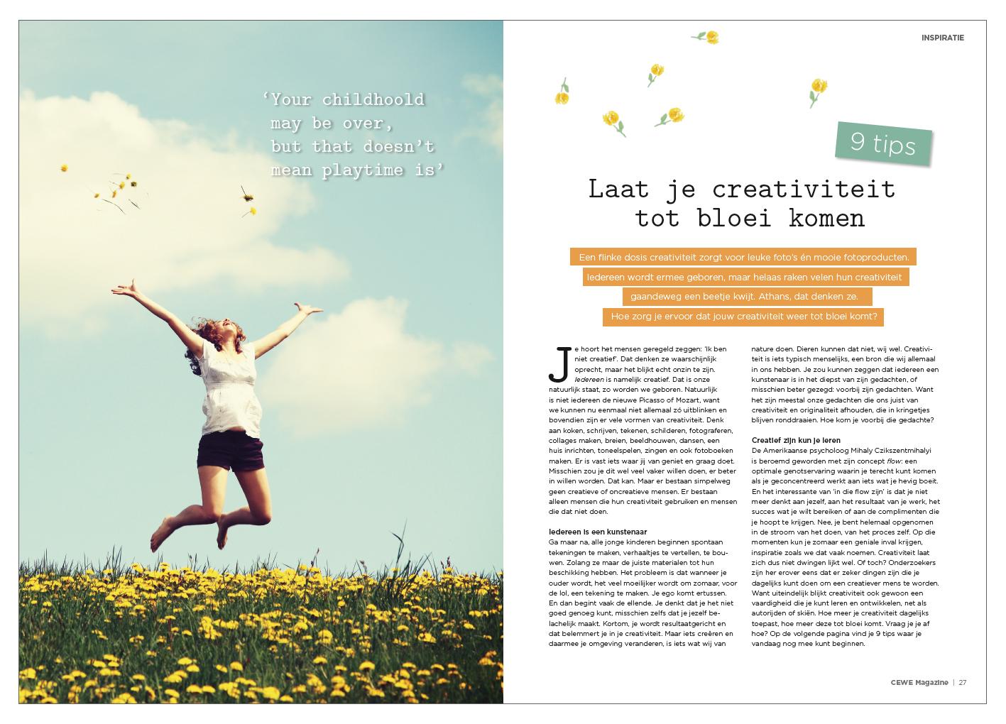 INSPIRATIE Laat je creativiteit tot bloei komen